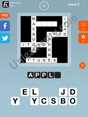 Crossword Pop Answers Level 2 11
