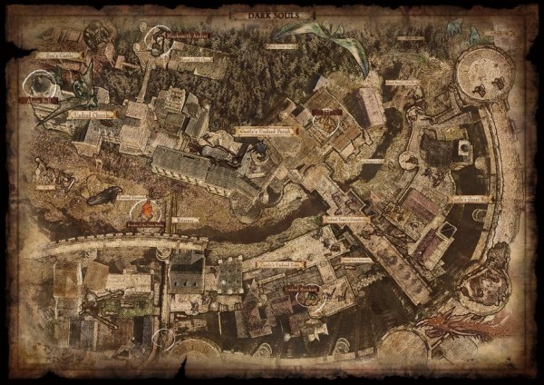dark souls map
