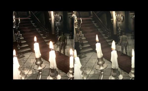 Resident evil HD comparison