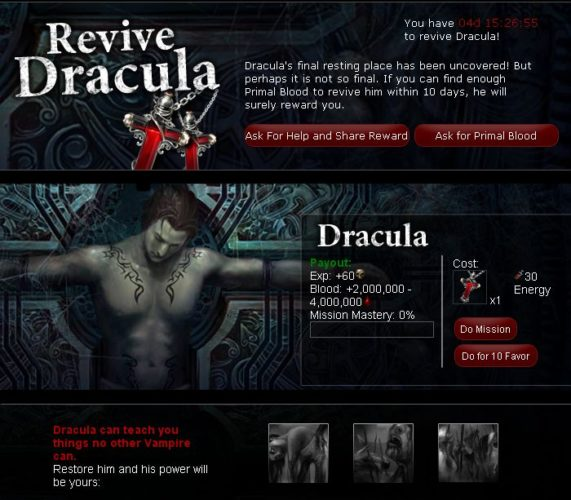 revive dracula in vampire wars unigamesity