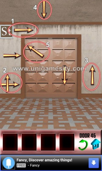 100 doors walkthrough level 43 level 50 unigamesity for Door 4 level 21