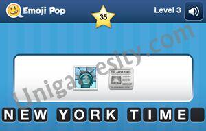 Emoji Pop Cheats: Level 3 - 25 to 3 - 44 Answers - Unigamesity