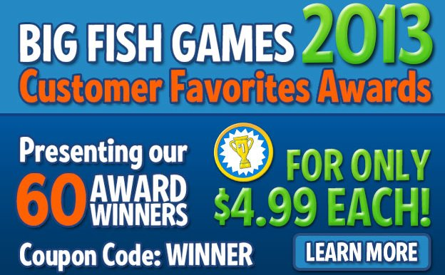 Most popular big fish games titles available for a for Big fish games coupon code
