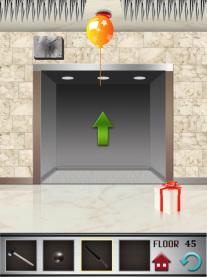 100 floors level 45 door open