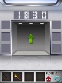 100 floors level 61  step 4 (door open)