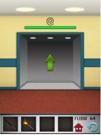 100 floors level 64 step 2 door open