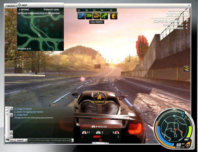 One of them was Need For Speed World Online, a racing MMO as the name