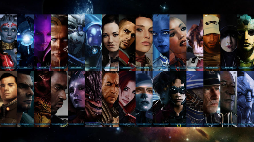 Mass Effect 3: Retaliation Characters - YouTube