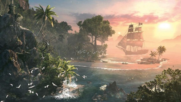 Assassins-Creed-4-Black-Flag-sunset-in-paradise