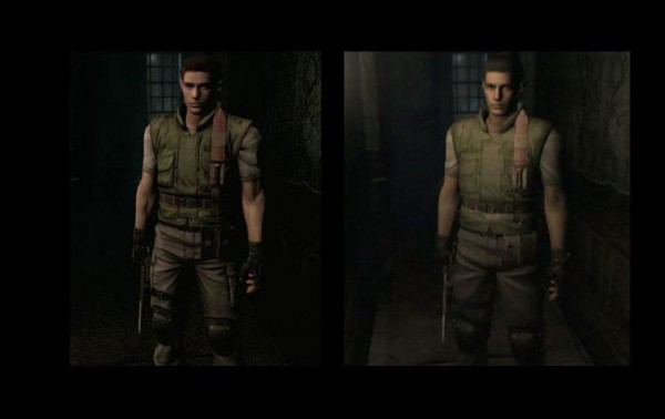 Resident evil HD character comparison